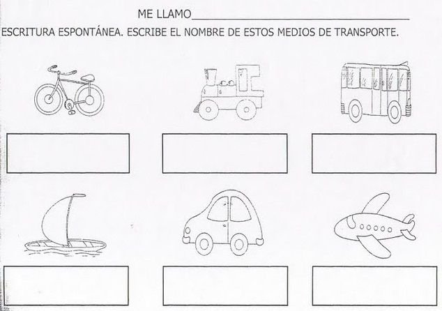 Actividades Escolares: actividades sobre medios de transportes ...