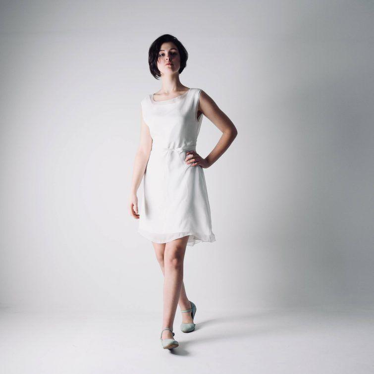 2f39698c6d72 Lisianthus ~ Short Tunic Wedding Dress - Larimeloom Handmade Clothing
