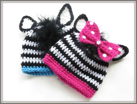 CROCHET PATTERN Zebra Beanie Crochet by CrochetBabyBoutique, $4.99