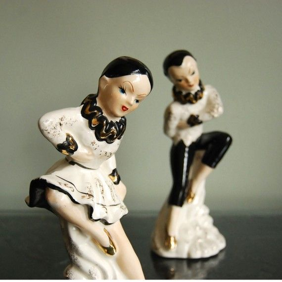 Vintage Figurines Ballerina Ceramic Dancer by CalloohCallay, $44.00