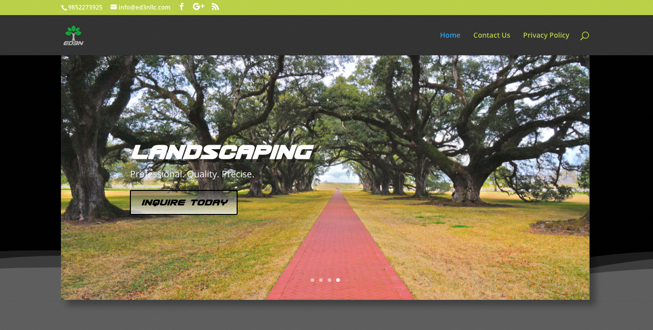 Congratulations To Ed3n Treeservice Landscaping On Their New Website Thanks To Our Partners Mbt Wordpress Website Design Wordpress Hosting Website Hosting
