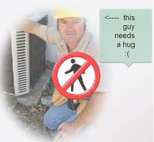 This Guy Needs A Hug Emerald Heating Cooling Board Depew