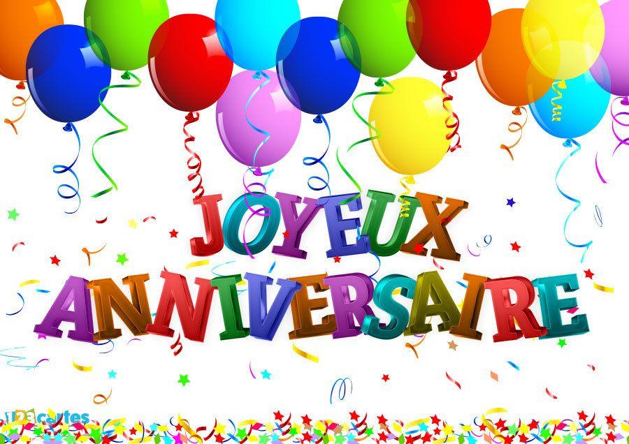 Carte Joyeux Anniversaire Avec Des Confettis Et Des Ballons Gonflables A Envoyer Sur F Chanson Joyeux Anniversaire Carte Joyeux Anniversaire Carte Anniversaire