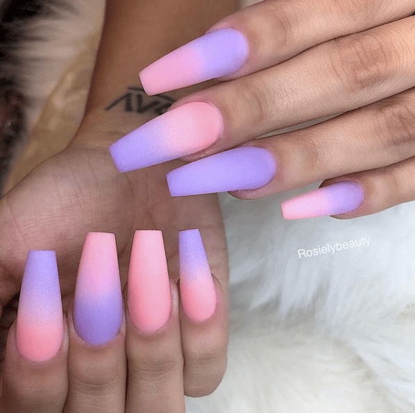 31 Looks Gorgeous Coffin Nails To Take Inspiration From In 2020 Ombre Acrylic Nails Pink Ombre Nails Nail Art Ombre