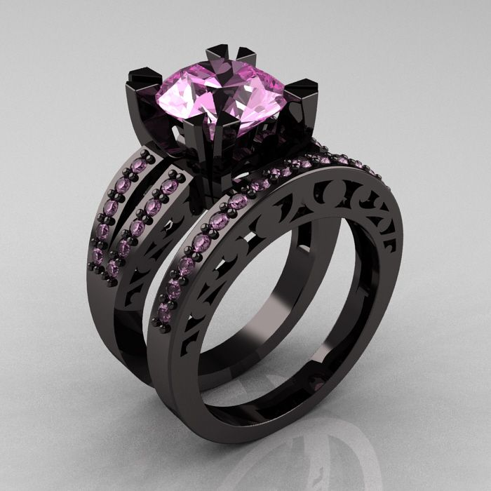 Pink And Black Wedding Ring Engagement Don T Usually