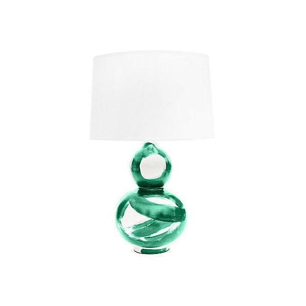 Hand Painted Table Lamp Emerald Table Lamps 449 Liked On