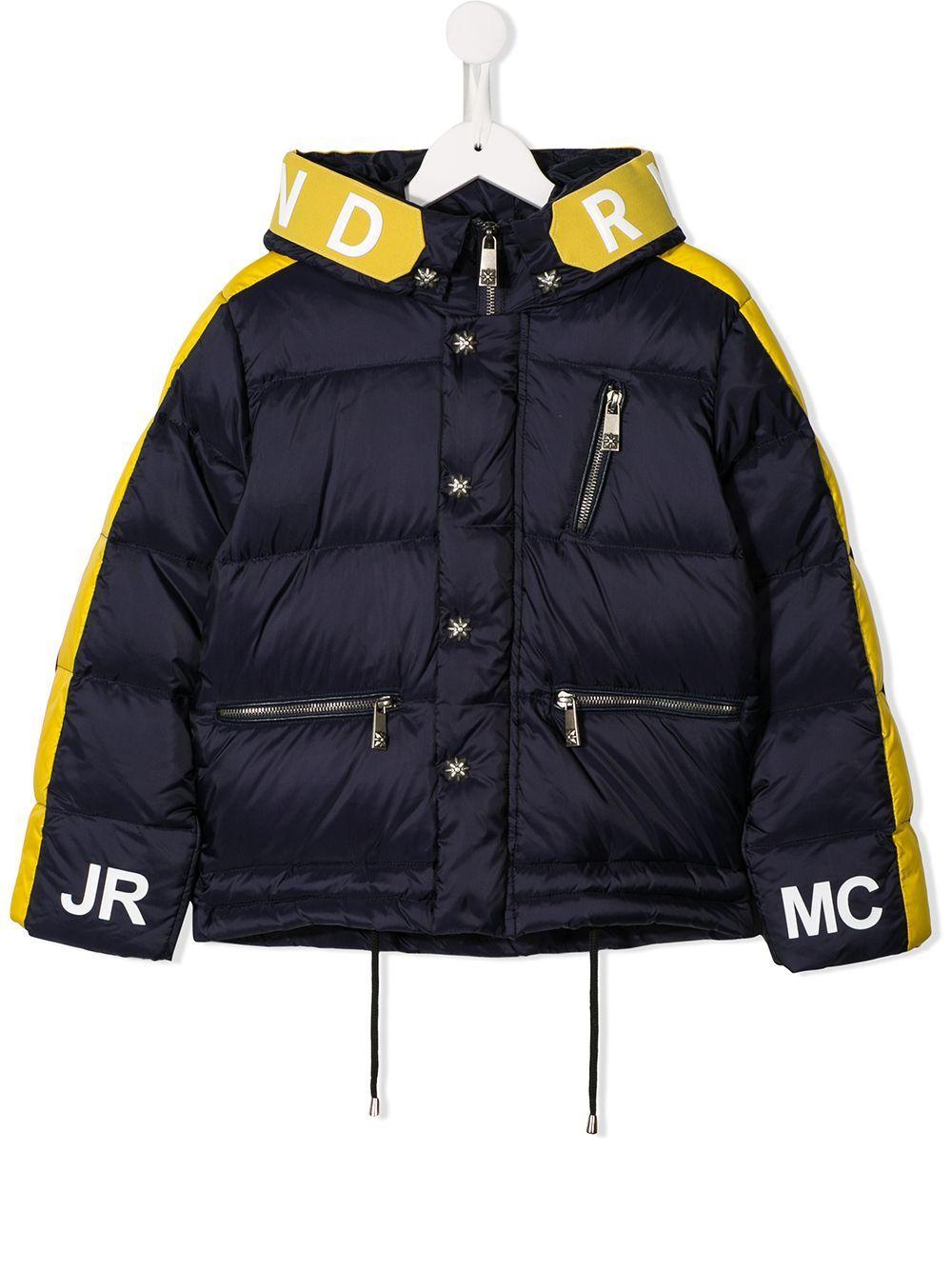 John Richmond Junior Kids Shell Puffer Jacket In Blue Modesens Oversized Puffer Coat Puffer Coat John Richmond [ 1334 x 1000 Pixel ]