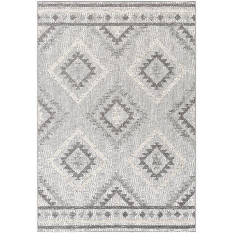Lyell Light Gray Taupe Indoor Outdoor Area Rug Allmodern Eclectic Area Rug Area Rugs Outdoor Trellis