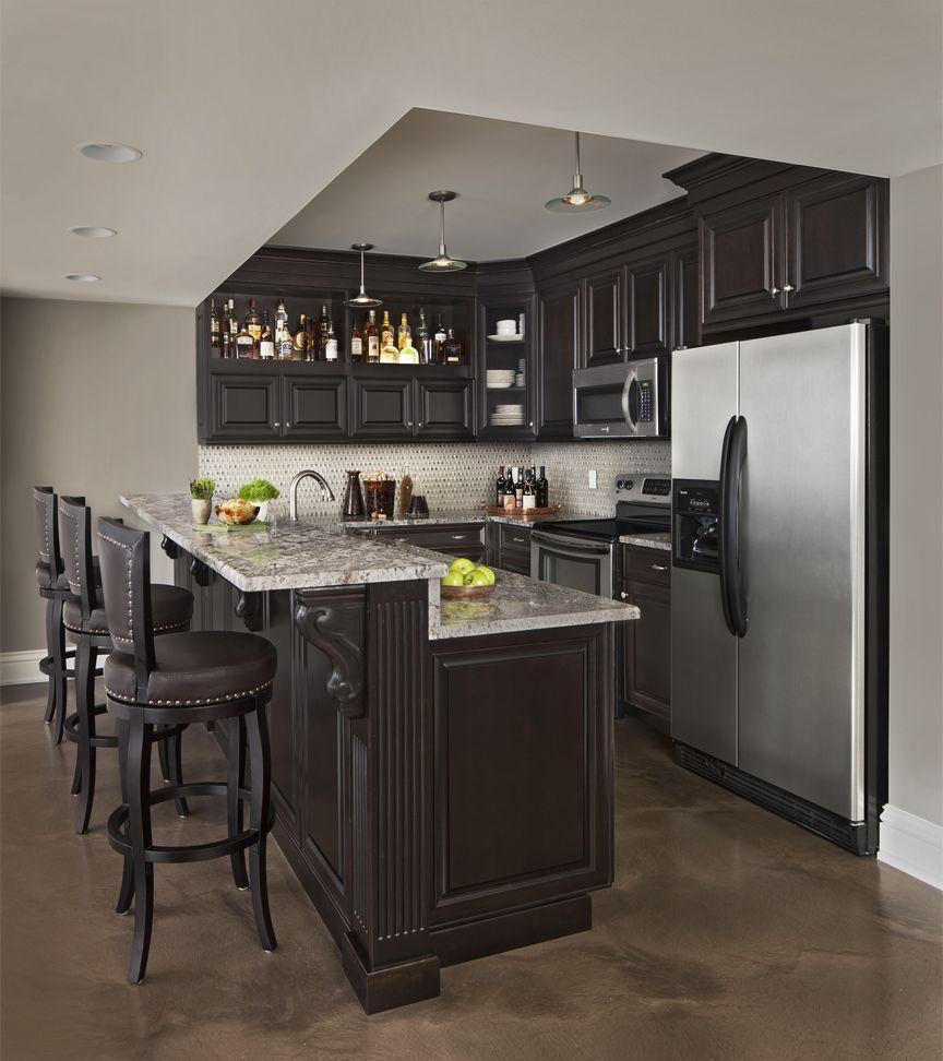 Dark Wood Custom Cabinet Kitchen Lafata Lafatacabinet Dark Kitchen Small Space Kitchen New Kitchen