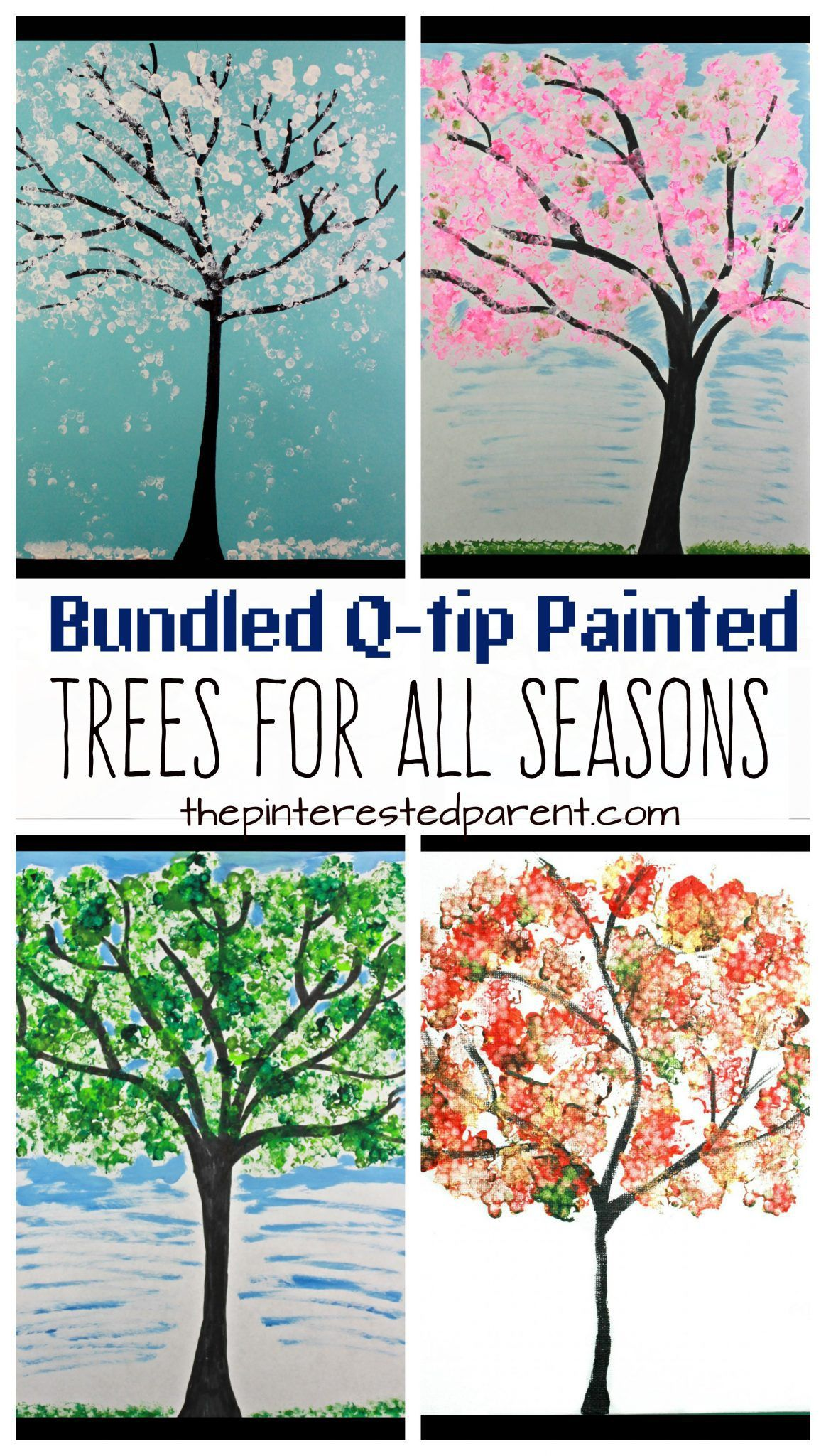 Bundled Q Tip Trees For Every Season