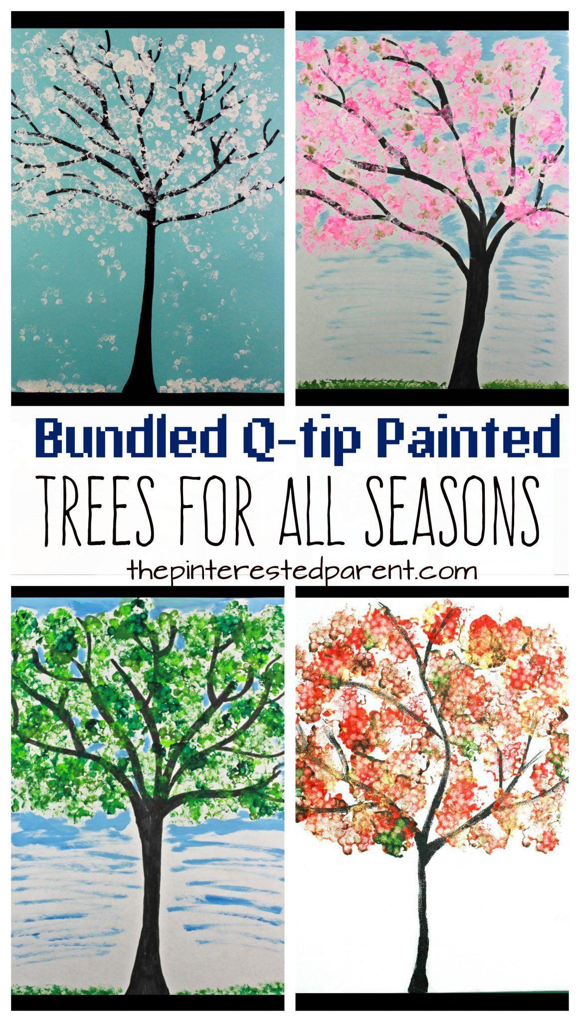 Bundled Q Tip Trees For Every Season