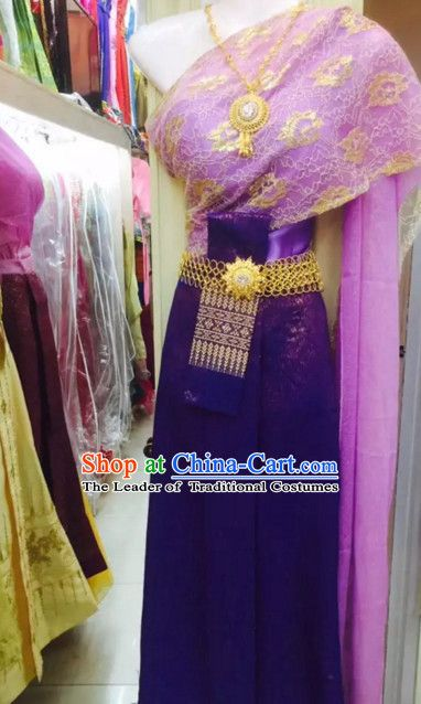 3cd1d15e12 Top Traditional National Thai Costumes Garment Dress Thai Traditional Dress  Dresses Wedding Dress Complete Set for Women Girls Youth Kids Adults