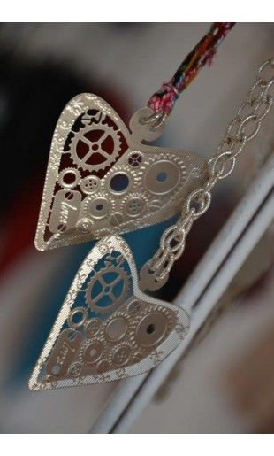 Bijoux cotton strings with oriental prints or metallic chains #cuoremeccanico #love #heart #cuore #gioiello #ciondolo #sanvalentine #jewellery #bijoux #oriental #amore #amour #fashion