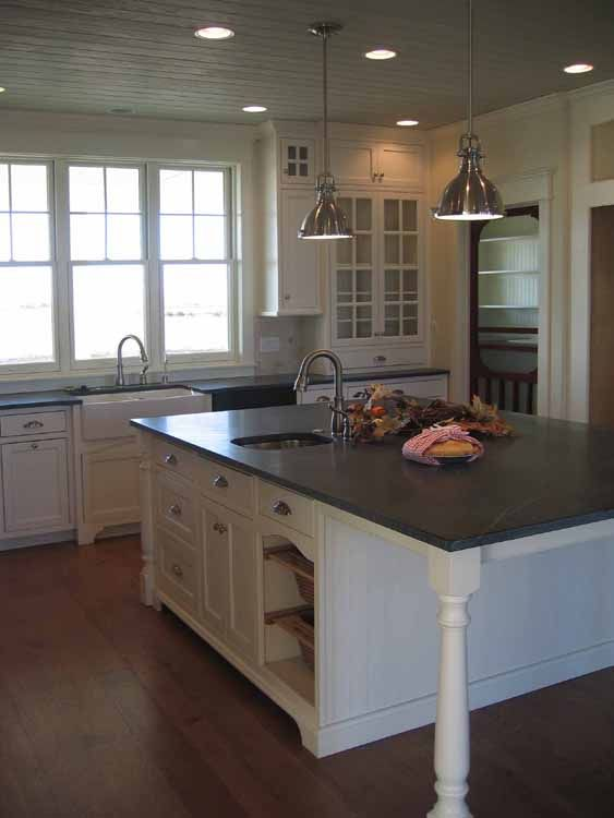 Country Kitchen With Fire Slate Countertops Slate Kitchen Home Kitchens Kitchen Remodel