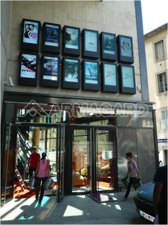 armagards portrait lcd enclosures being used for outdoor digital signage at a cinema and shopping centre in france digitalsignage pinterest flats