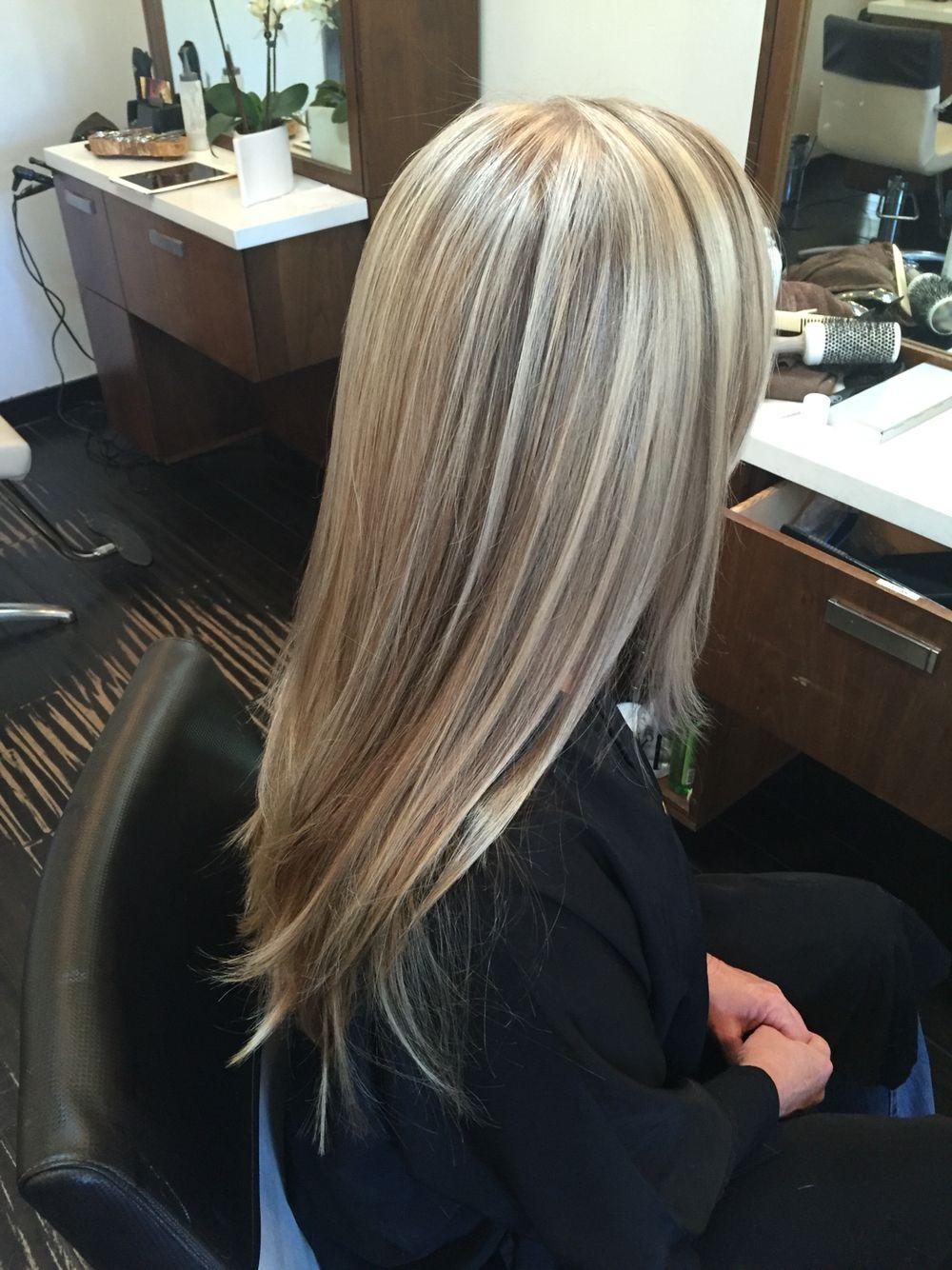 Vanilla Blonde Dimensional Blonde Highlights Lowlights Dimensional Blonde Champagne Hair Color Blonde Hair Shades