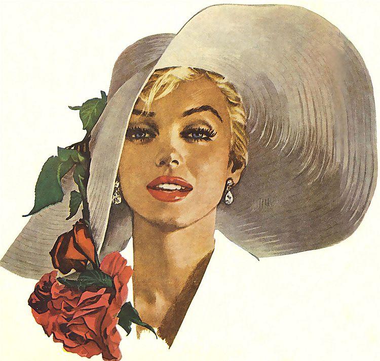 Картинки женщины в шляпках ретро, марта