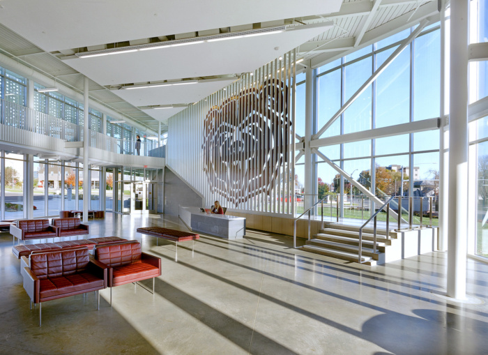 Missouri State University Davis Harrington Welcome Center Education Snapshots Missouri State University Architecture Lobby Interior