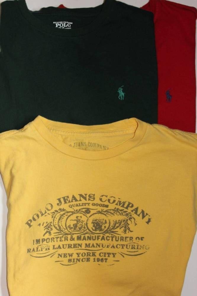1a1fd610d Mens Ralph Lauren Polo and Vintage T-shirts Sz L Large Lot Of 3 2 Pony 1  Vintage #PoloRalphLauren #TShirt