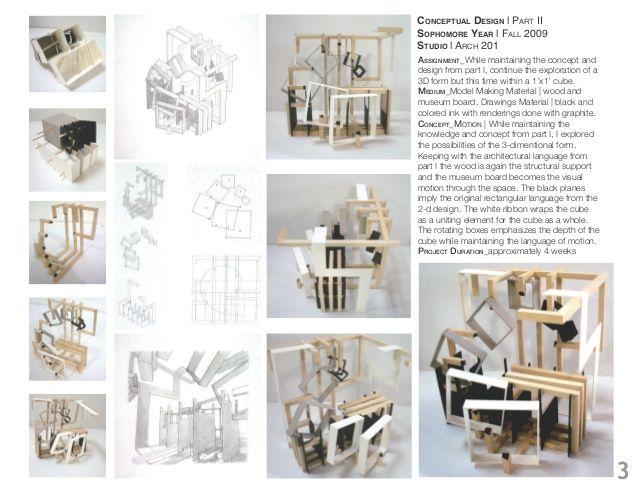 Marisa l aschettino undergraduate architecture portfolio conceptual models pinterest for Cornell interior design undergraduate