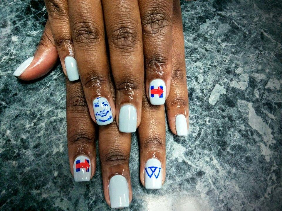 Wellesley/Hillary nail art, by Hadiyah at All About Hair in Memphis ...