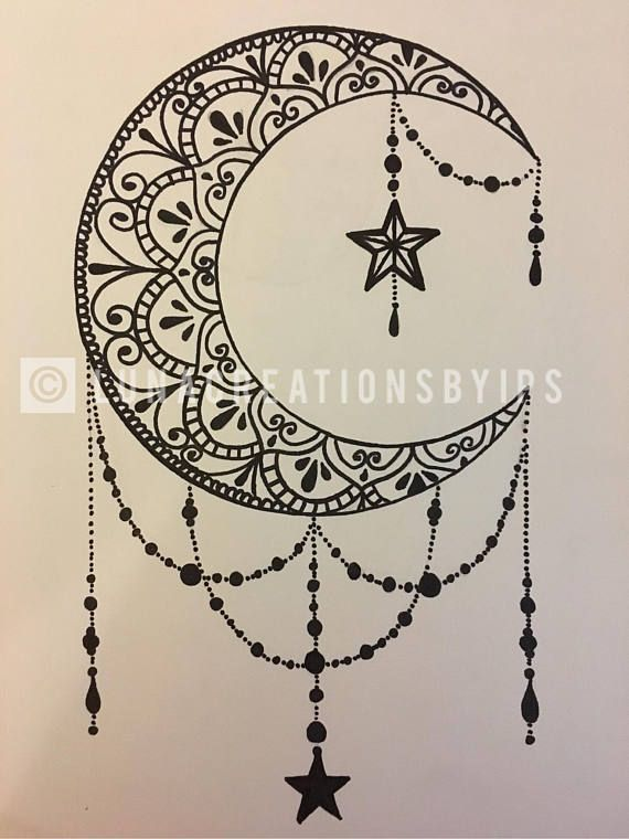 Photo of Original Luna handgemachte Mandala Schwarz Leinwand auf weißem 18 X 24 #tattood…