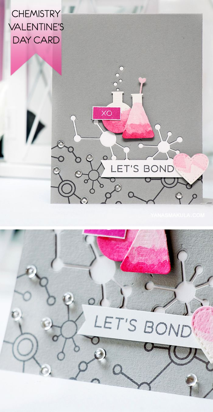 Create a fun and unique Valentines Day card with My Favorite – Chemistry Valentines Day Card