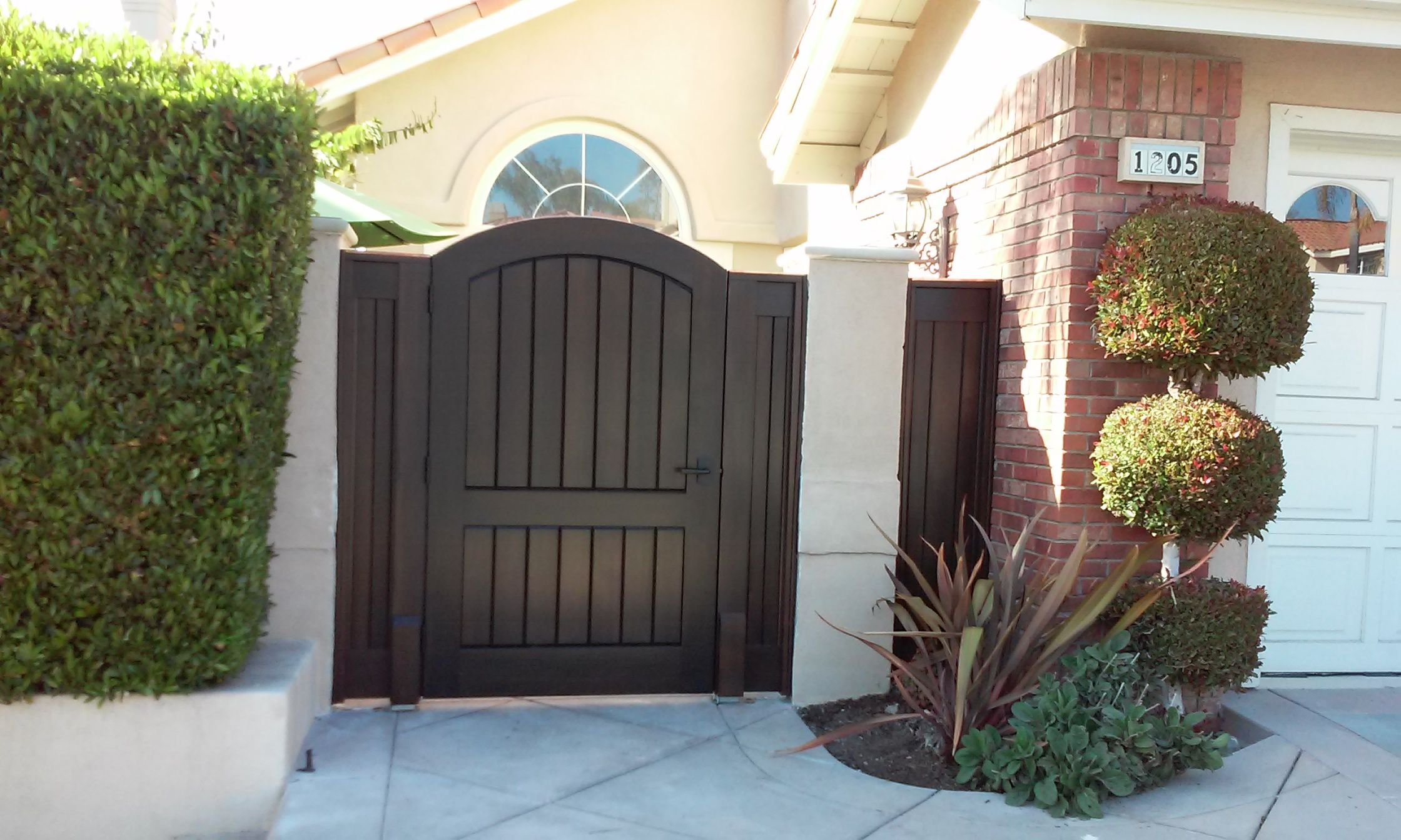 Custom wood gate by garden passages garden pinterest wood