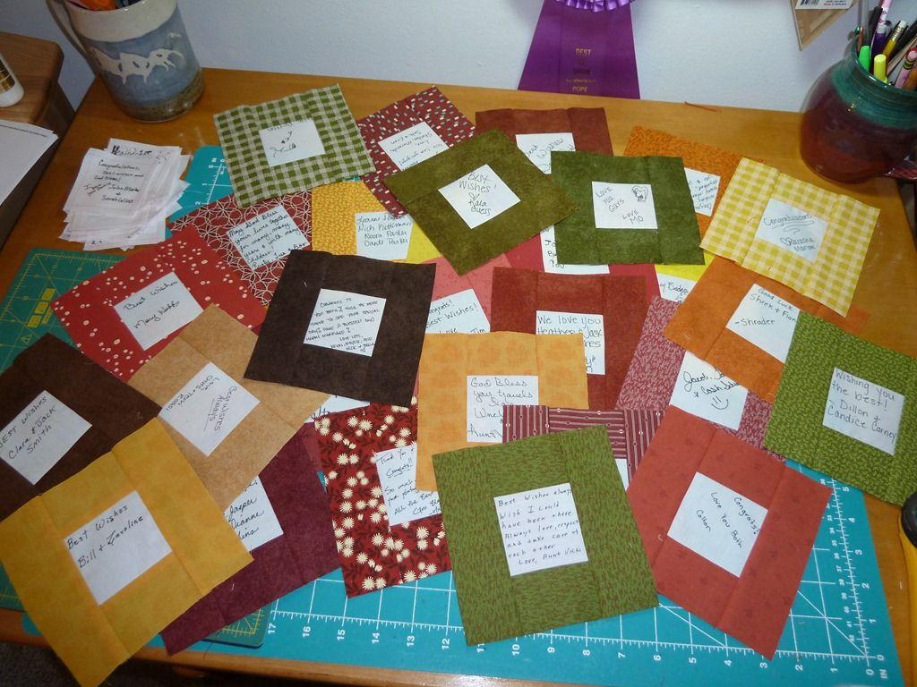 Wedding signature quilt with embroider d names | Etsy | Pinterest ... : wedding signature quilt - Adamdwight.com
