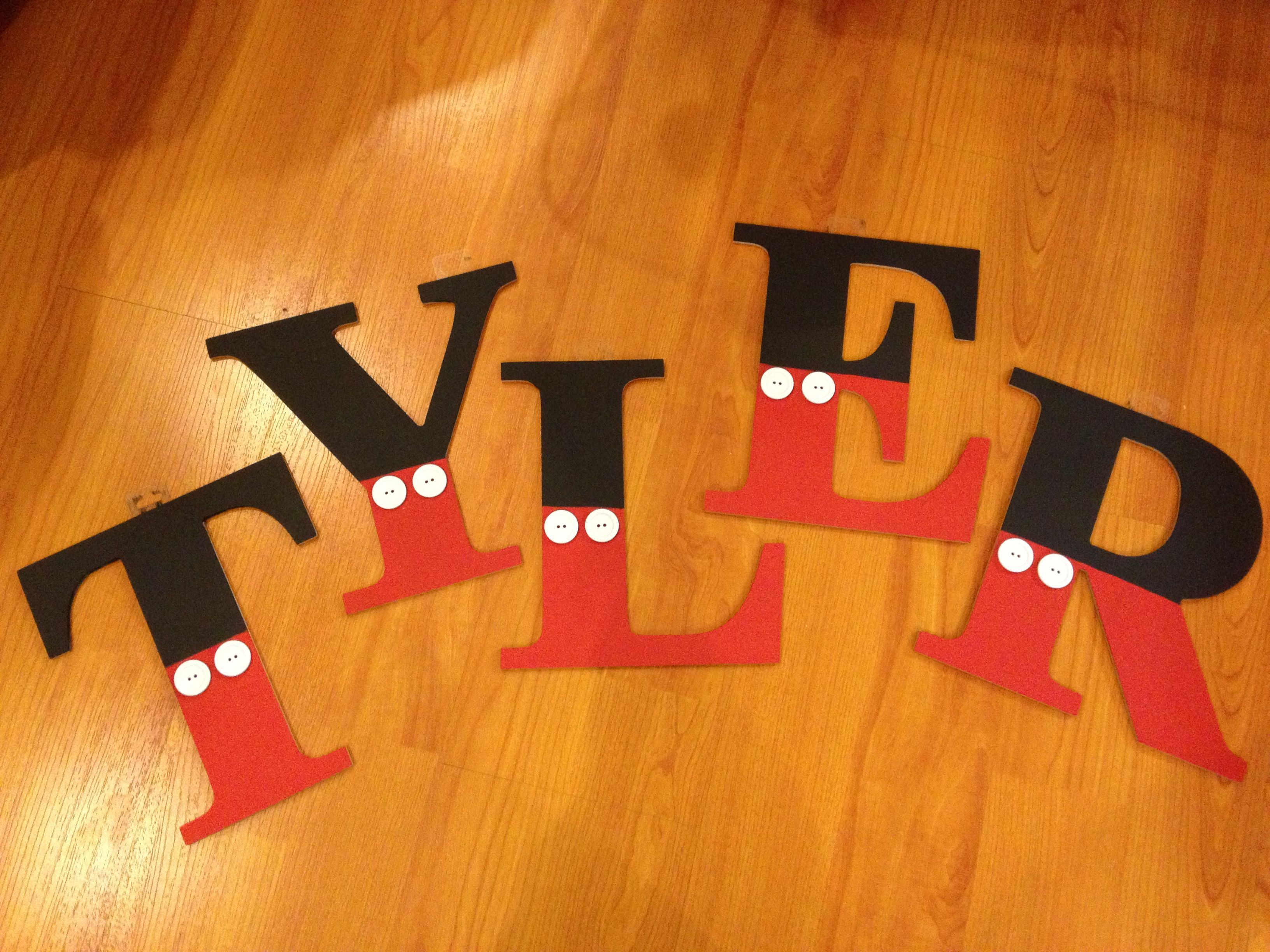 Diy Hand Painted Wooden Letters Mickey Mouse Theme