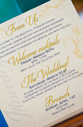 Wedding Itinerary For Hotel Guests Google Search