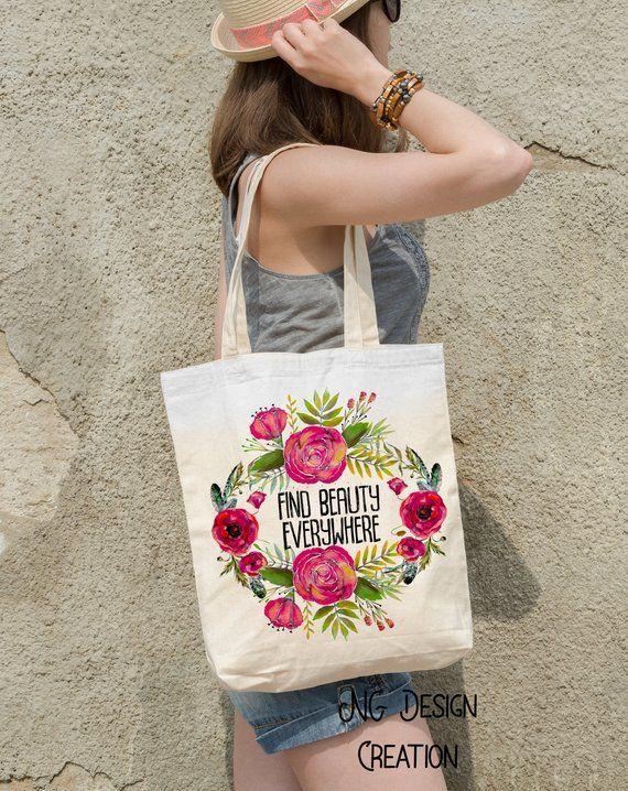 Canvas Bag Everyday Bag Custom Tote Bagtote Bag Giftflower Tote Bagcute Tote Bagsummer Tote Bagbeach Tote Large Tote Bagboho Tote Flower Tote Bag Tote Bag Bags