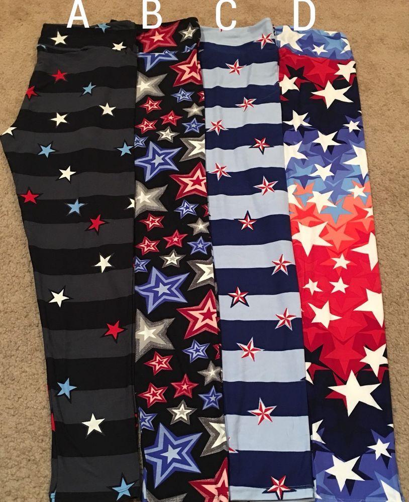 2d6de51799 New Lularoe TC Americana Stars Stripes Flags Red White Blue Firework ...
