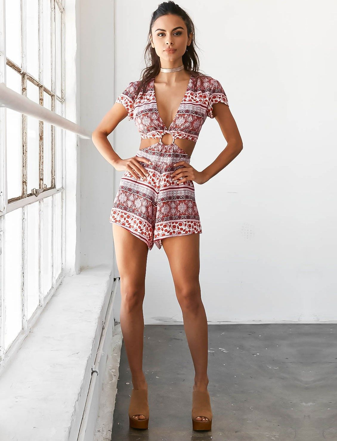 Tiger Mist Right Round Playsuit