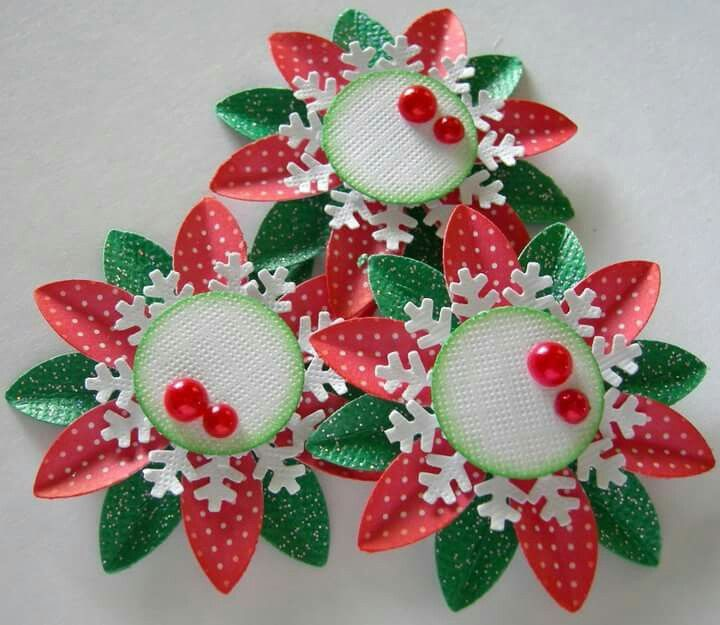 embellishments  candy cards paper flowers christmas tag