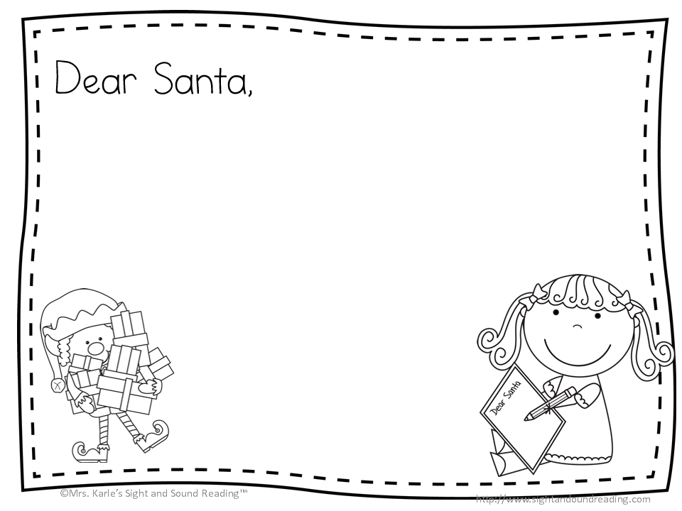 Santa Letter Free Cute Template To Write A Letter To Santa