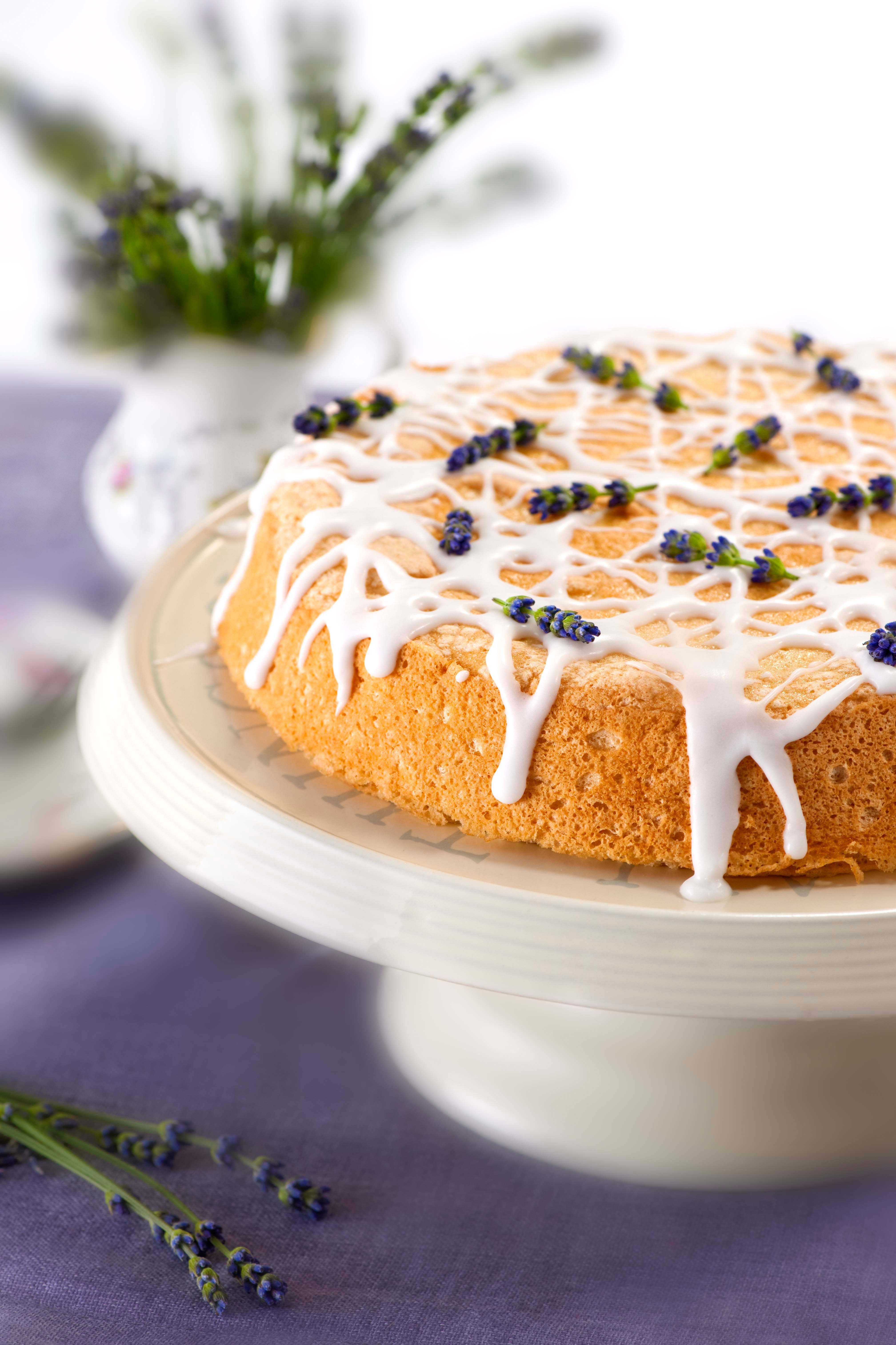Gusto recipes cooking ideas from canadas food lifestyle this delightful angel food cake with essence of lavender screams spring even if the weather doesnt httpgustotvrecipesdessertangel food cake forumfinder Image collections