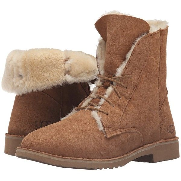 87657b07e58 UGG Quincy (Chestnut) Women's Boots ($170) ❤ liked on Polyvore ...