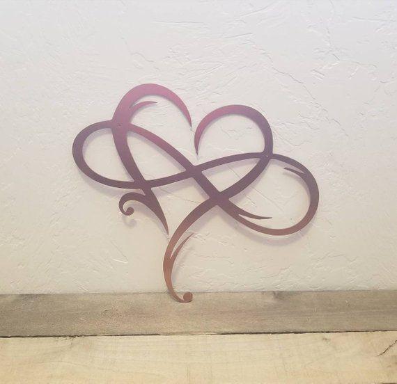 b007ea49fcb40 Infinity Sign Metal Wall Art Metal Infinity Symbol and Heart | Etsy ...