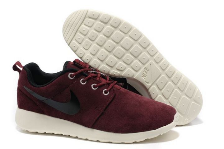 new concept 58f8a 9318a Heren Nike Roshe Run Suede Schoenen Wijn Rood Zwart Wit as you see,Good  quality for sneakers is very hot sale .What are you waiting