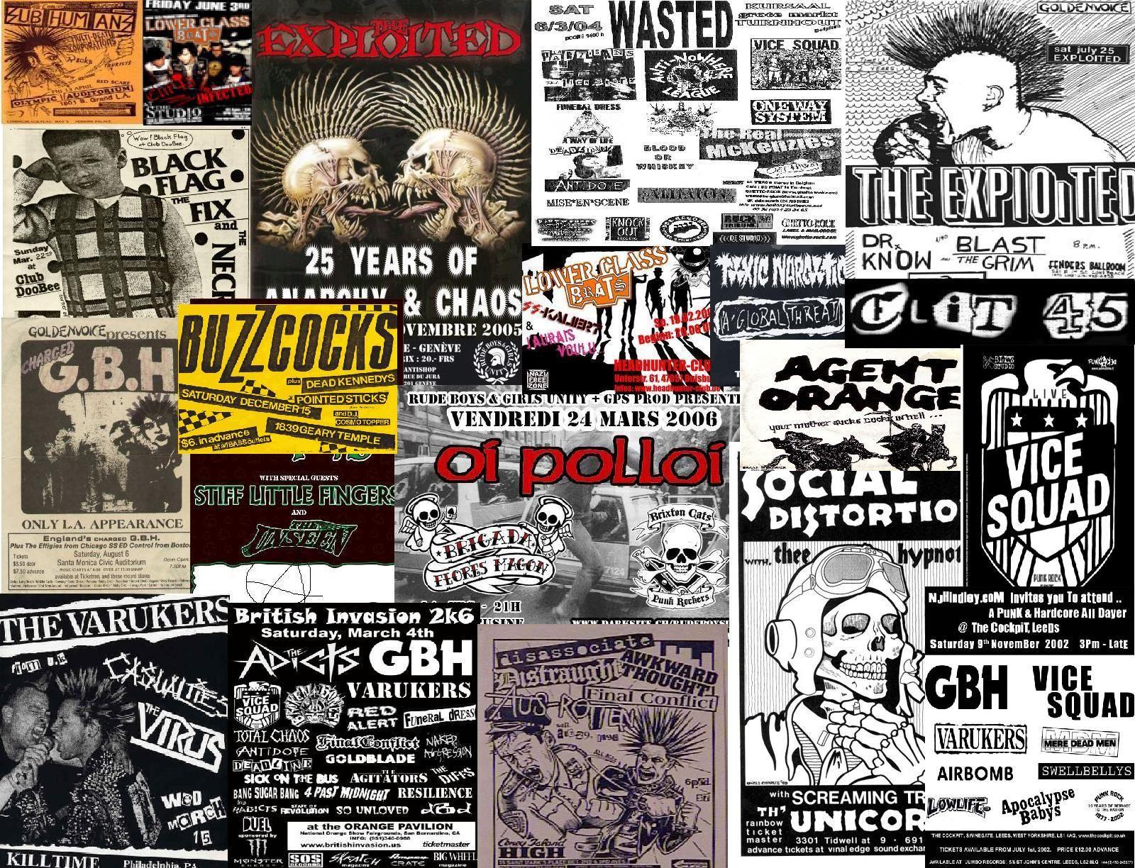 punk rock flyer wallpaper.lowerclasschaos.deviantart on