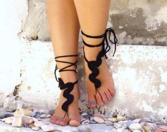 Sandalias pies descalzos sandalias Descalzas mariposa por Lasunka