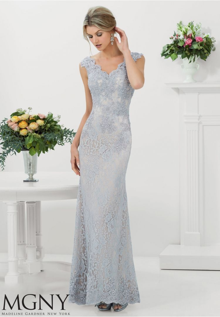 Evening gowns and mother of the bride dresses by mgny stretch lace