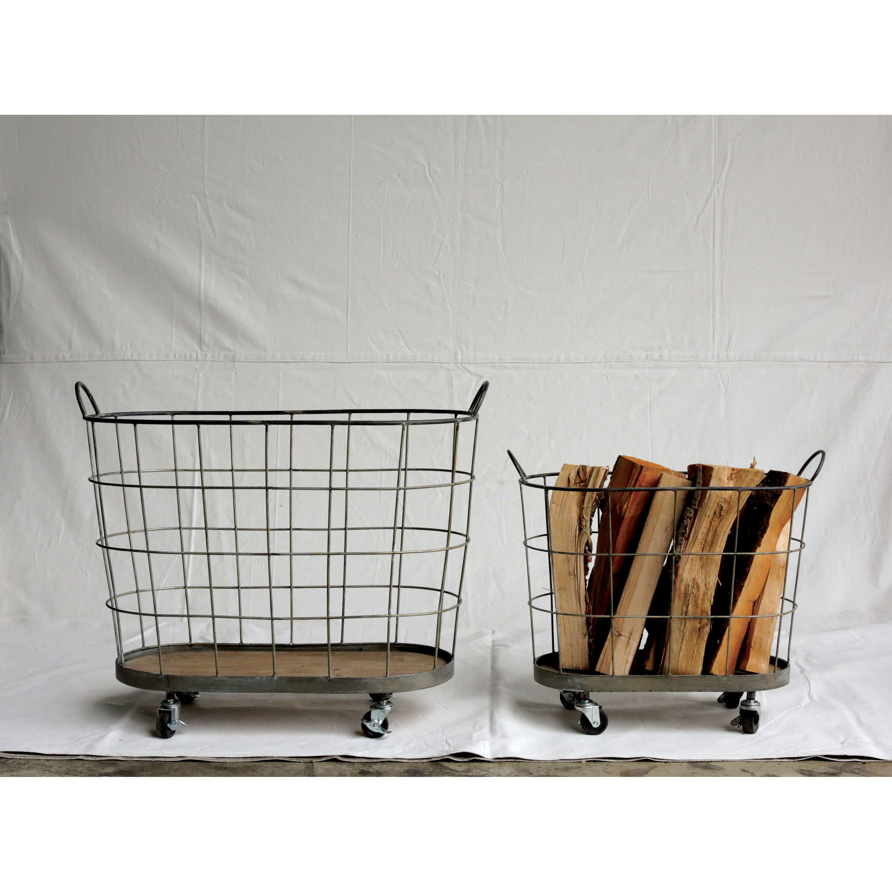 Creative Co Op Casual Country 2 Piece Laundry Basket Set