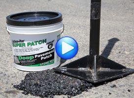 1 Gal Super Patch Pothole Patch Asphalt Driveway Repair Driveway Repair Driveway Design