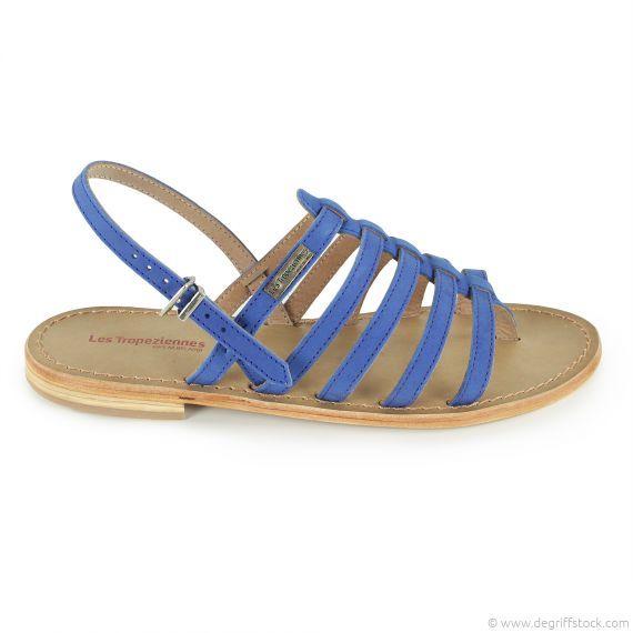 Sandales bleues femme Les Tropéziennes Dégriff'Stock