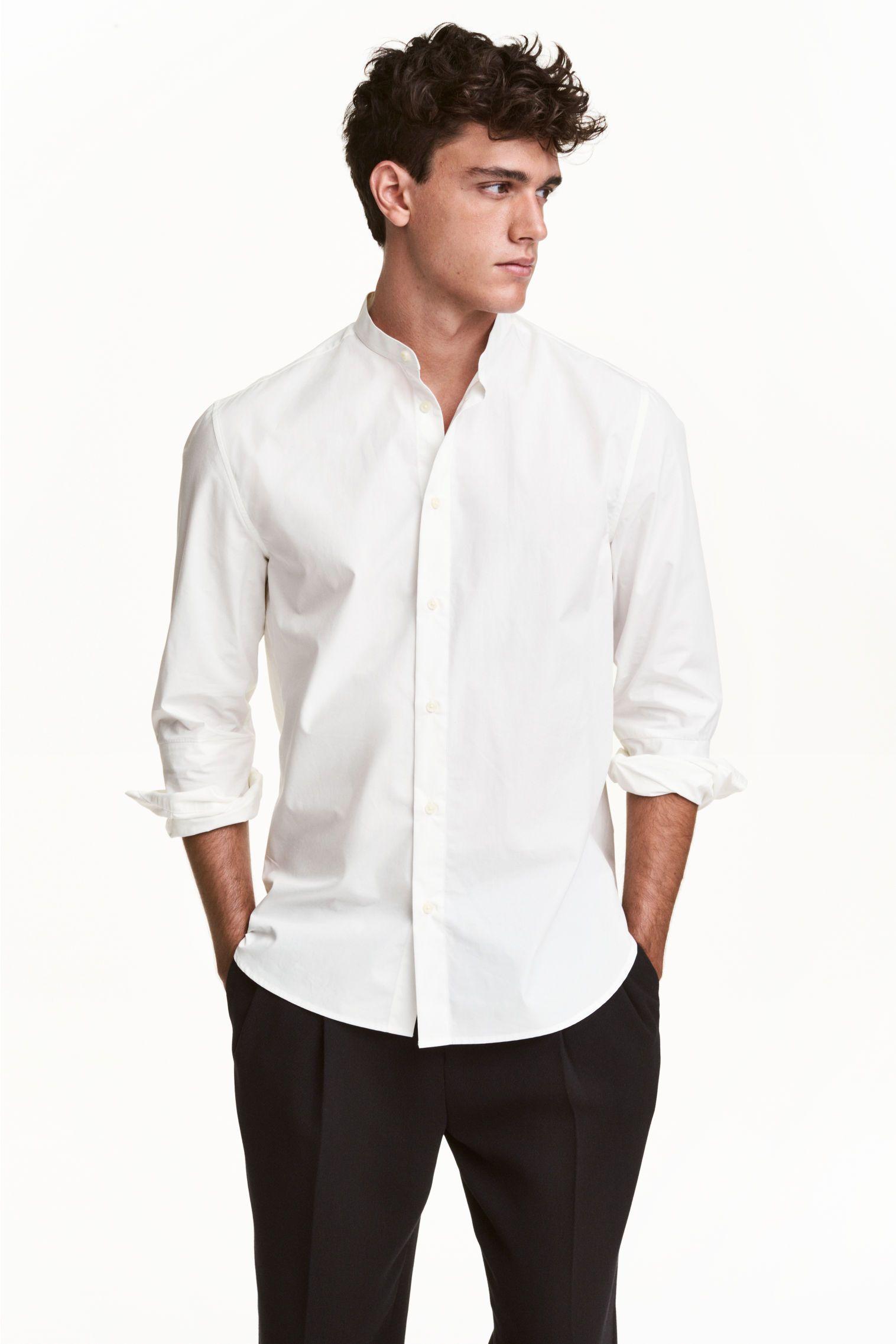 4afdc889 Grandad collar shirt | Style | Grandad collar shirt, White shirt men ...