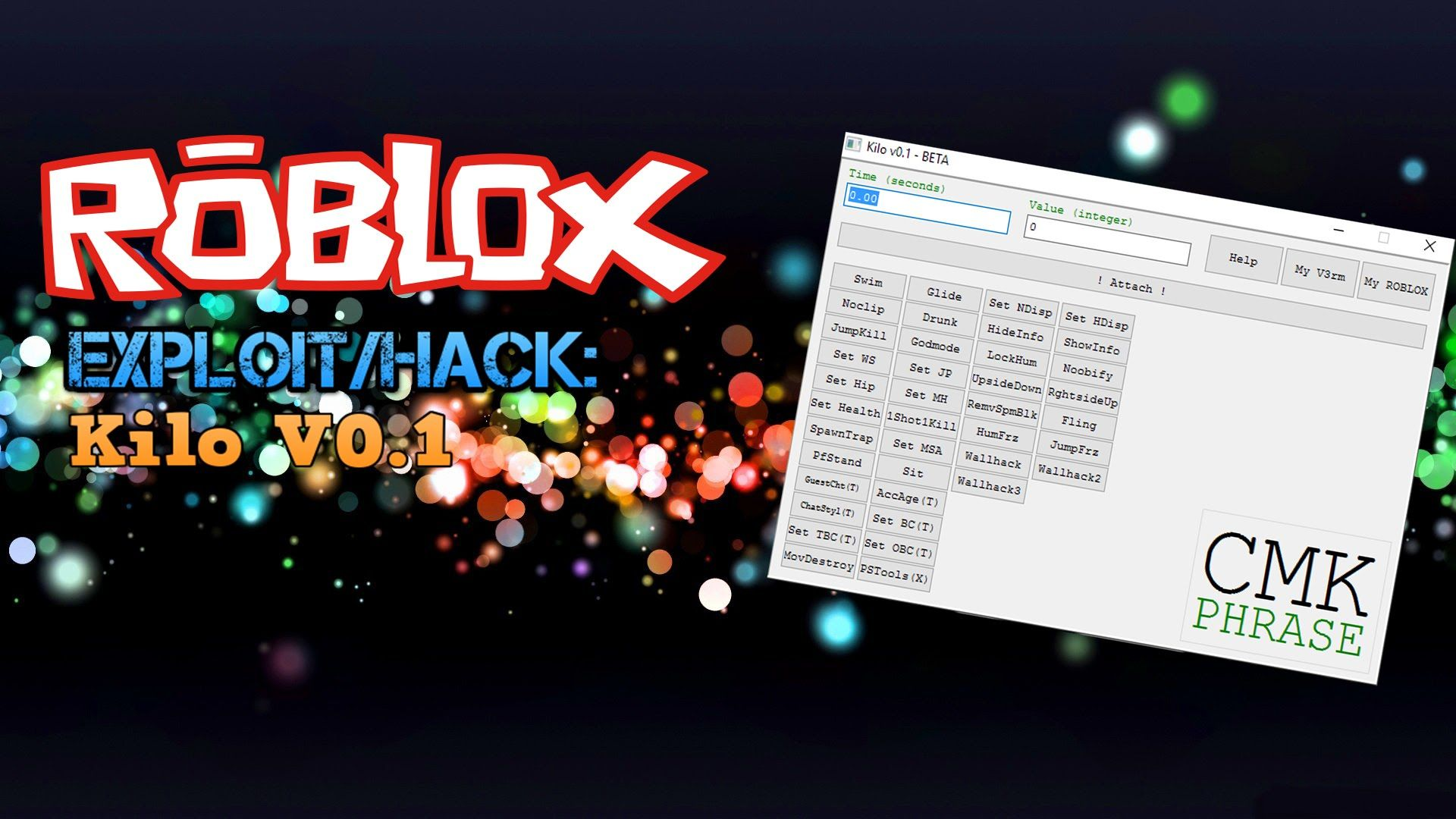 Roblox Exploit Hack Kilo V0 1 35 Commands Btools Fly Noclip And Mo Roblox Kids Command