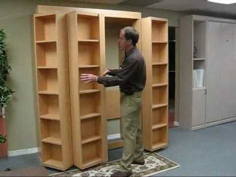 I Really Want A Murphy Bed The Fact There S A Book Case With It Just Makes It 100 Times Better Avec Images Idees Pour La Maison Lit Escamotable Idee Deco Appartement