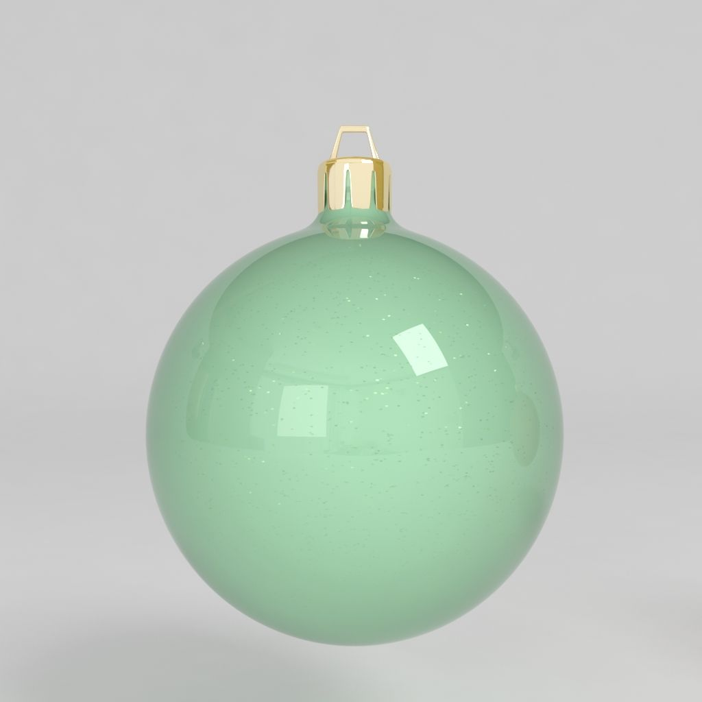 3d Model Christmas Ball Decoration Colored Tree Decoration Noel Celebration Blue Green Yellow Red Reflect Christmas Balls 3d Model Christmas Bulbs